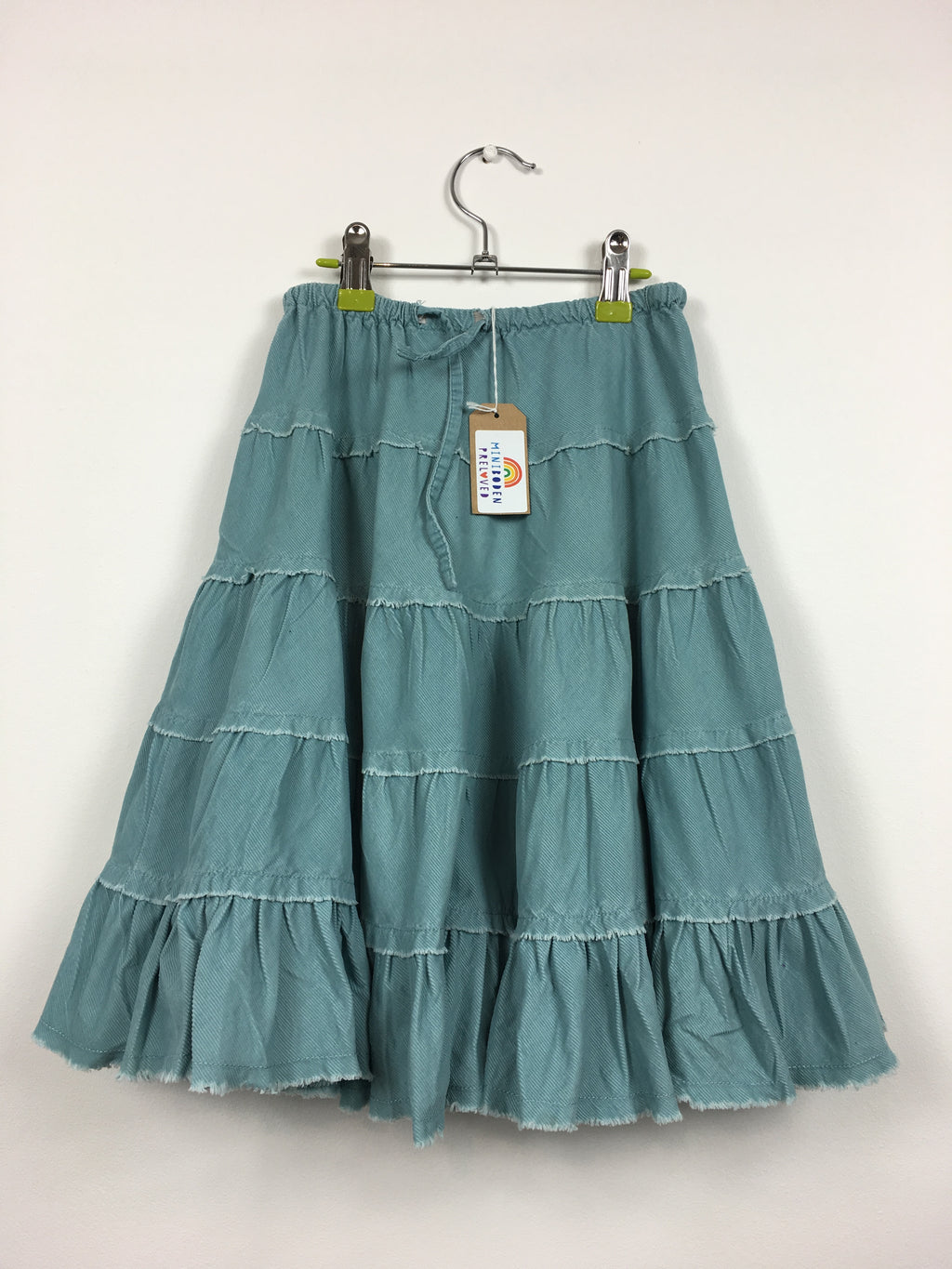 Blue Cord Twirly Skirt