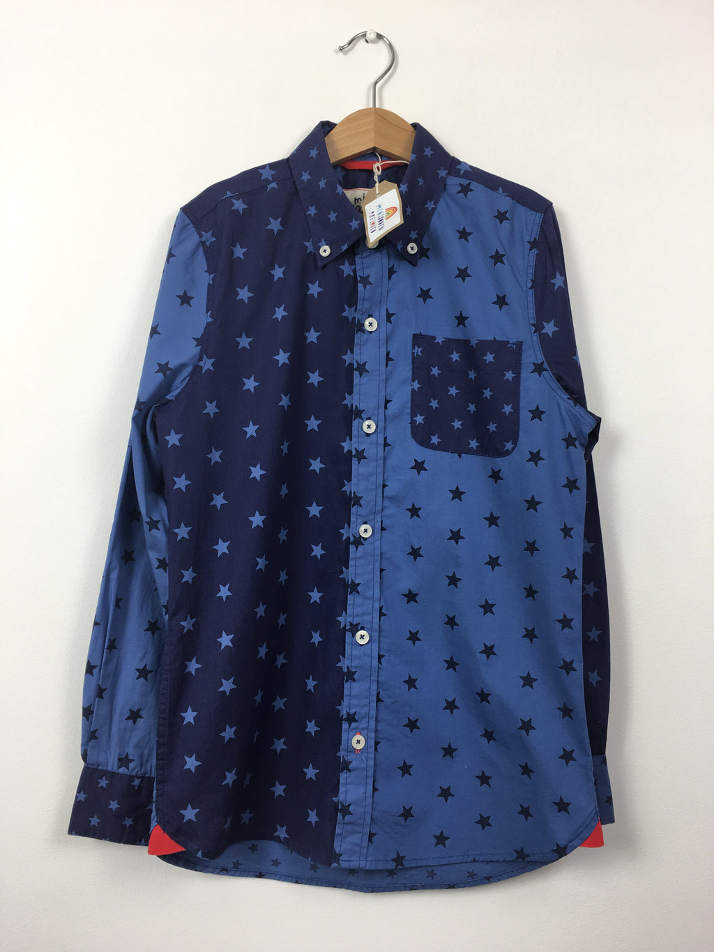 Star Print Blue Shirt (9-10 Years)