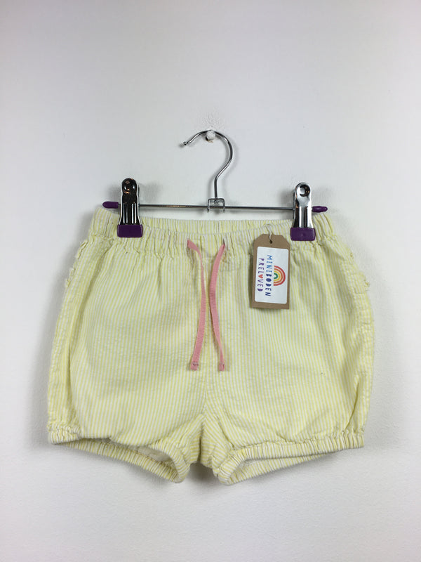 NEW Super Sweet Yellow Pinstripe Seersucker Shorts (3-4 Years)