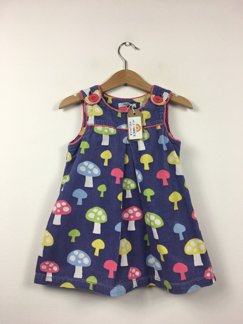 Purple Toadstool Pinafore Dress (18-24 Months)