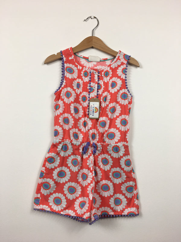 Coral Flower Print Playsuit (3-4 Years)