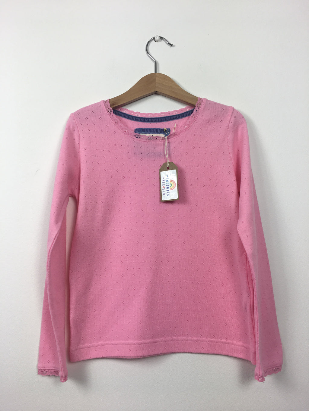 Soft Pink Pointelle Top (7-8 Years)