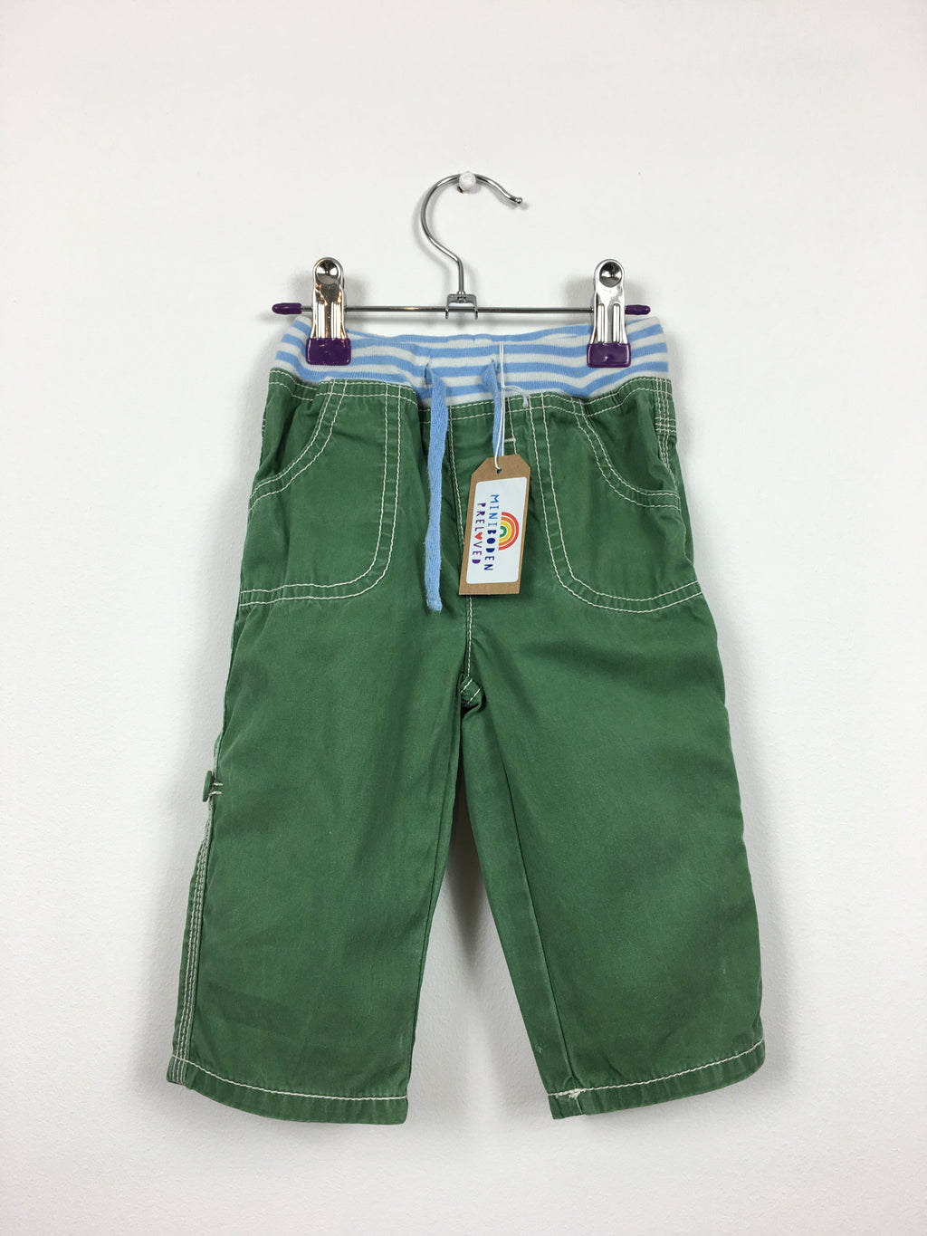 Green Roll Up Trousers (6-12 Months)