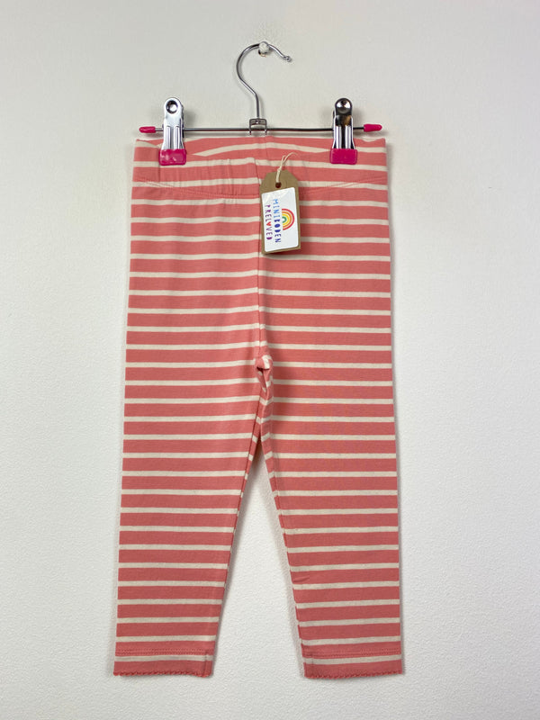 Pink & White Stripy Leggings (18-24 Months)