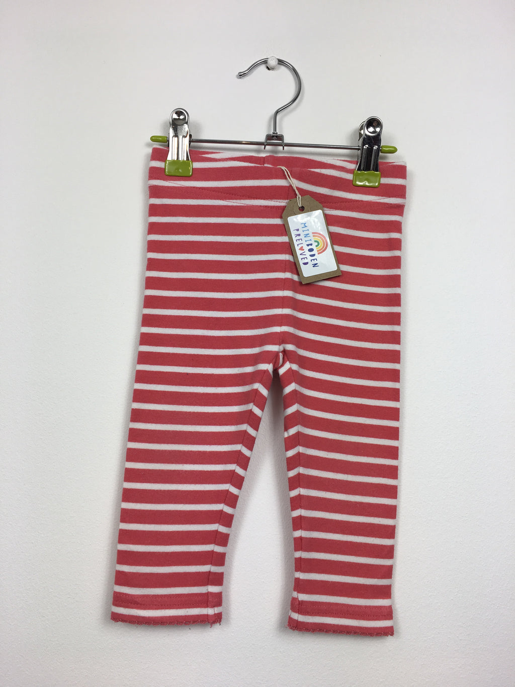 Red & White Stripy Leggings (6-12 Months)