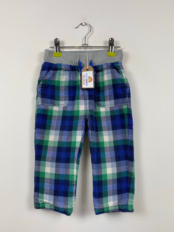 Brushed Cotton Tartan Trousers (18-24 Months)