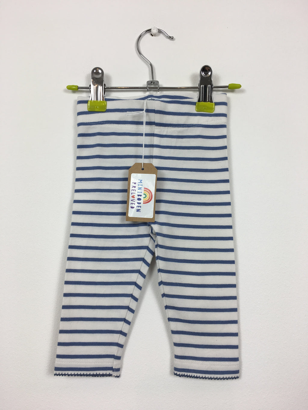 Blue & White Stripy Leggings (3-6 Months)