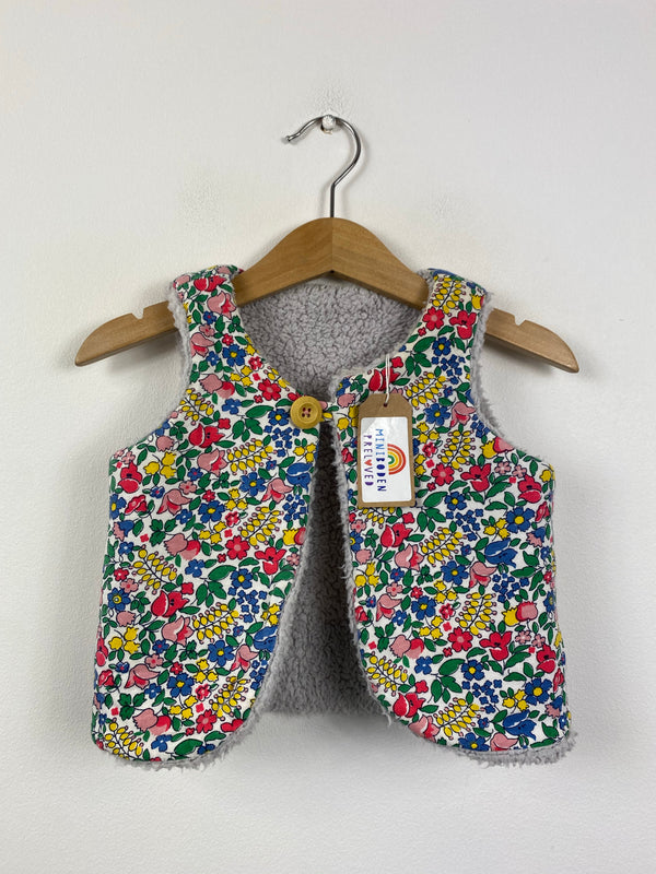 Liberty Inspired Floral Reversible Gilet (18-24 Months)