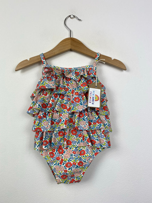 Liberty Inspired Floral Ruffle Swimsuit (6-12 Months)
