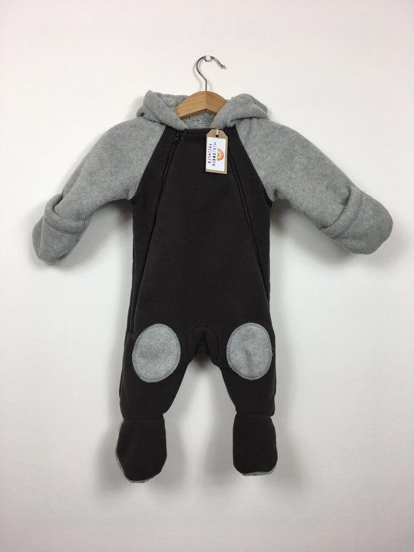 11d9a5357 Brown & Grey Fleece Snowsuit (0-3 Months)