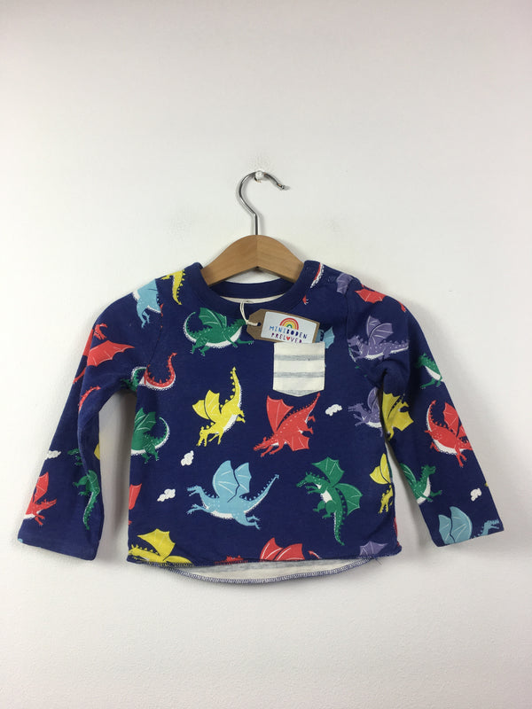 Dragon Print Reversible Top (3-6 Months)