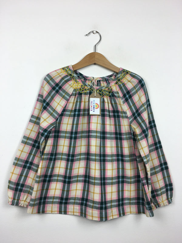 Brushed Cotton Tartan Blouse (6-7 Years)