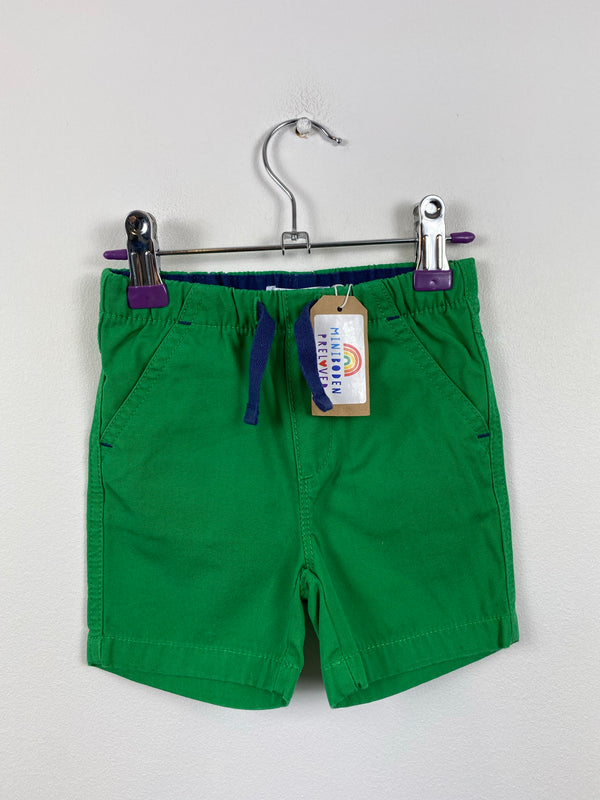 Green Cotton Shorts (3-6 Months)