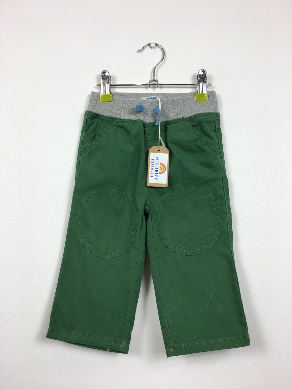 Green Lined Cargo Trousers (12-18 Months)