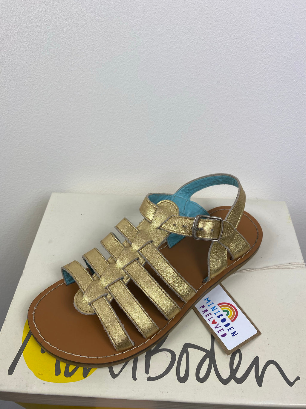 Metallic Gold Gladiator Sandals (Size - 34)