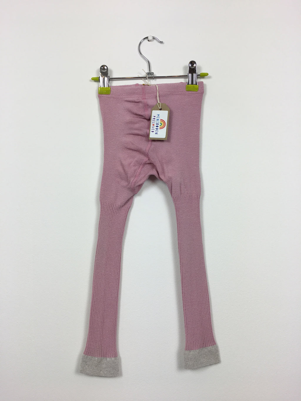 Light Pink Footless Party Tights (5-6 Years)