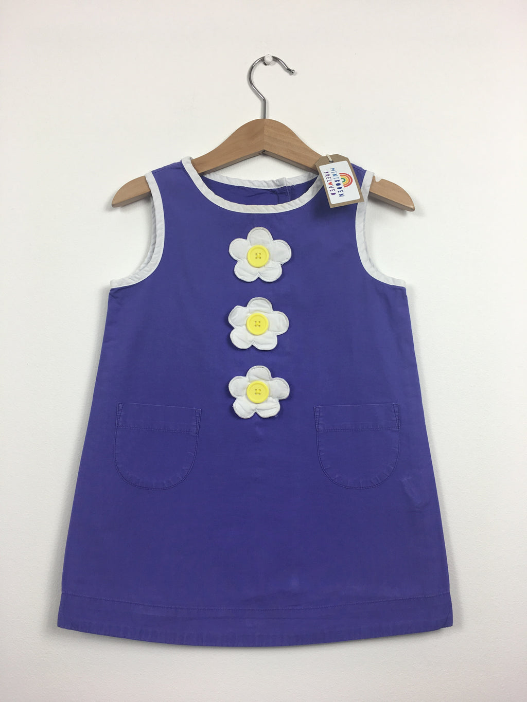 Purple Dress With Flower Buttons (2-3 Years)