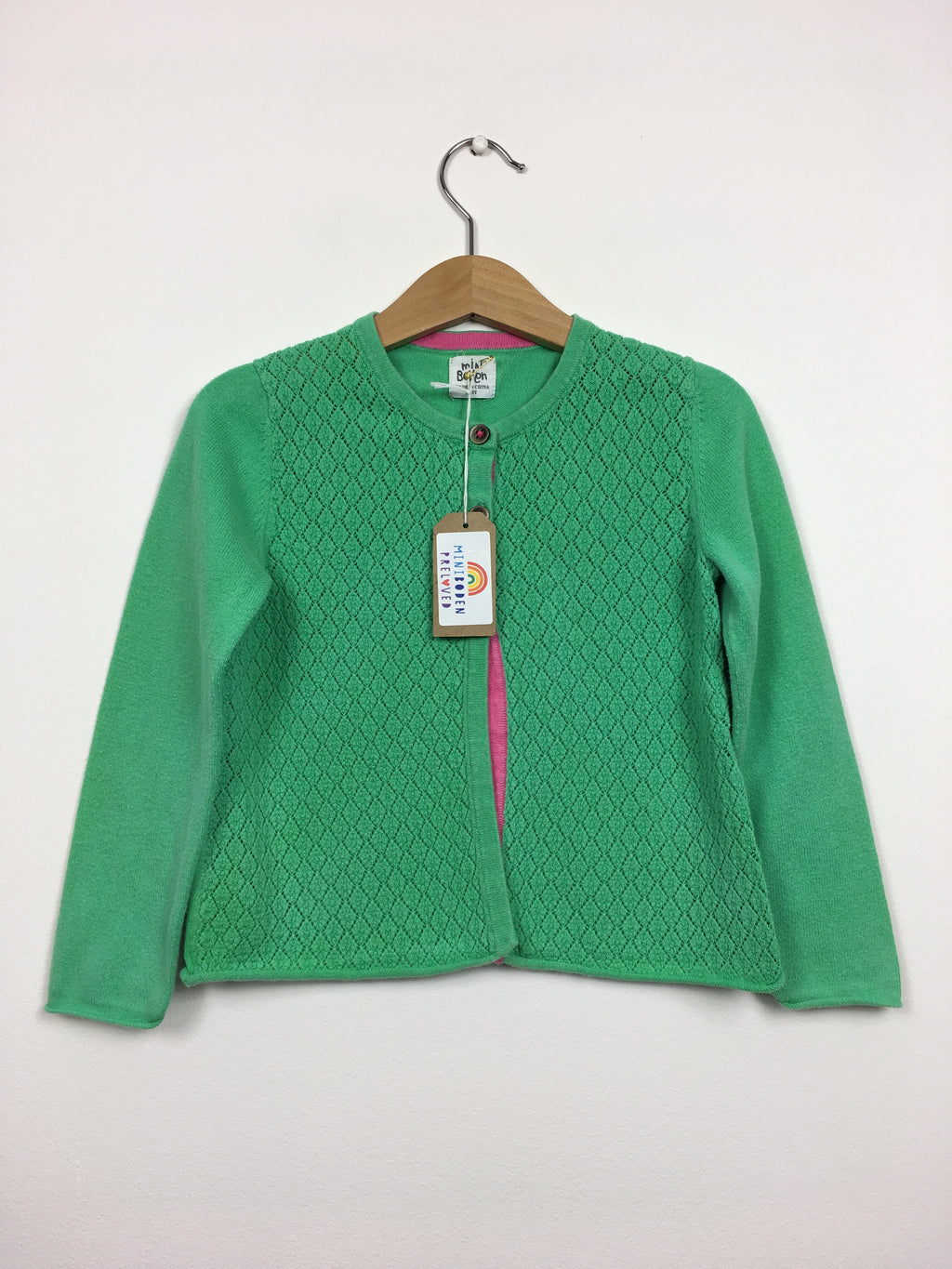Green Detailed Occasion Cardigan (4-5 Years)
