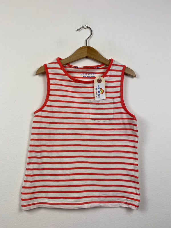 Red & White Stripy Summer Vest Top (7-8 Years)