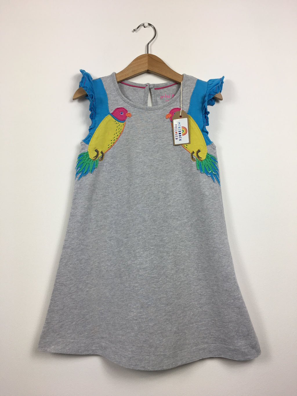 Appliqué Parrot Dress (4-5 Years)
