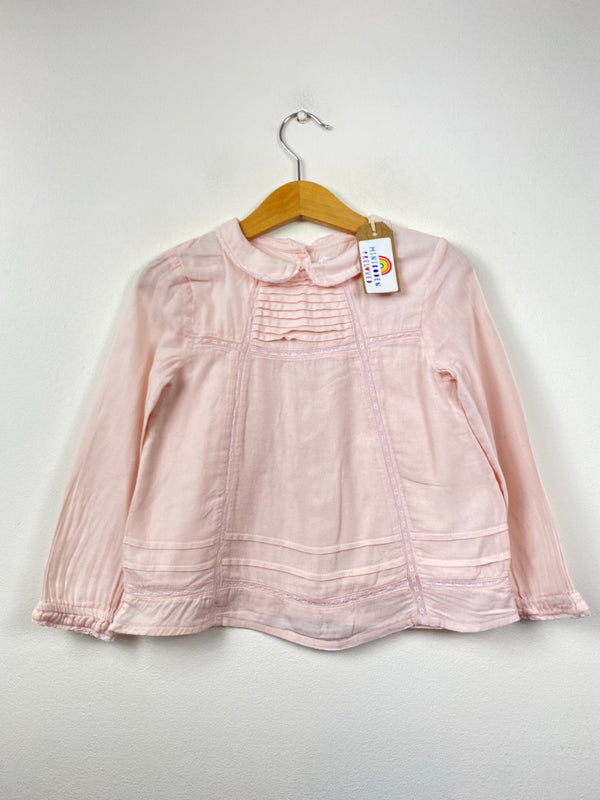 Pale Pink Blouse With Peter Pan Collar (2-3 Years)