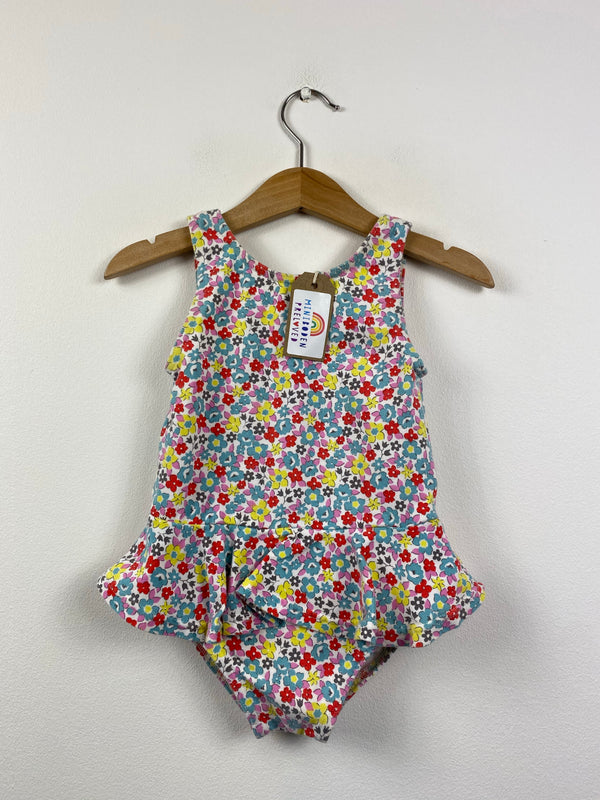 Pretty Floral Cotton Swimsuit (18-24 Months)