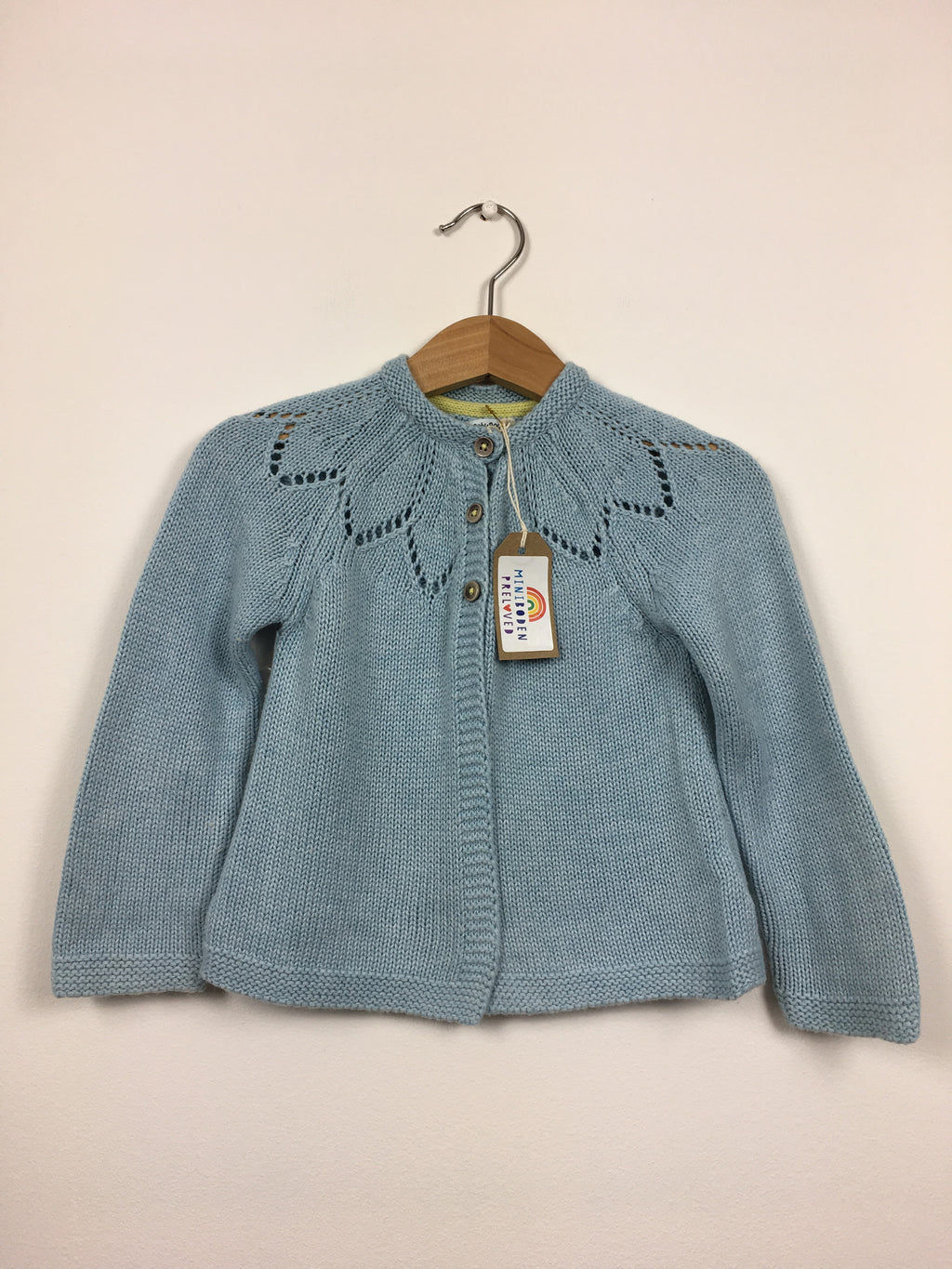 Pretty Detailed Blue Cardigan (12-18 Months)