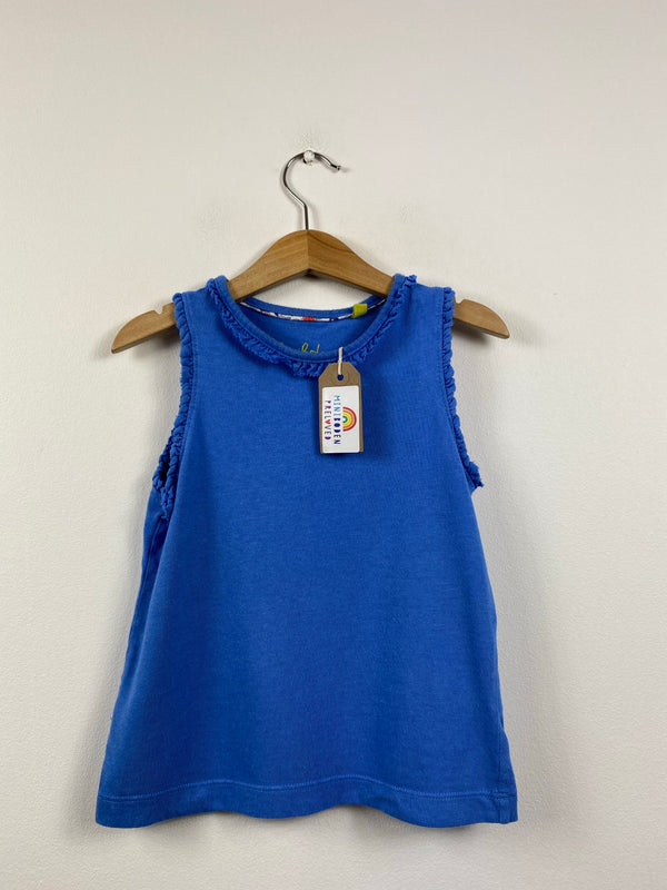 Frill Sleeved Blue Vest Top (4-5 Years)