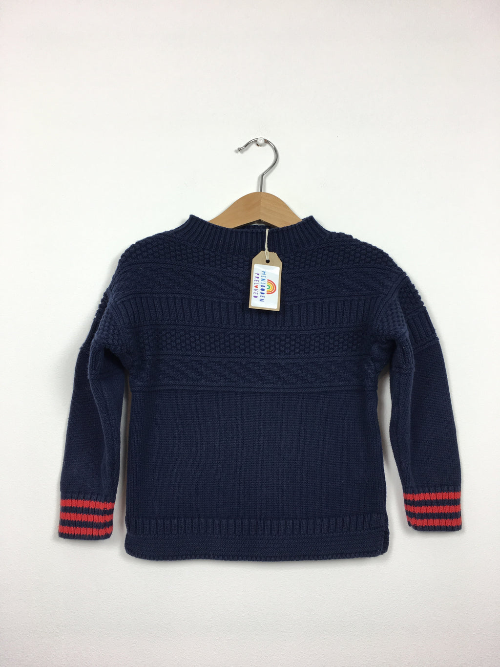 Chunky Navy Cotton Jumper (2-3 Years)