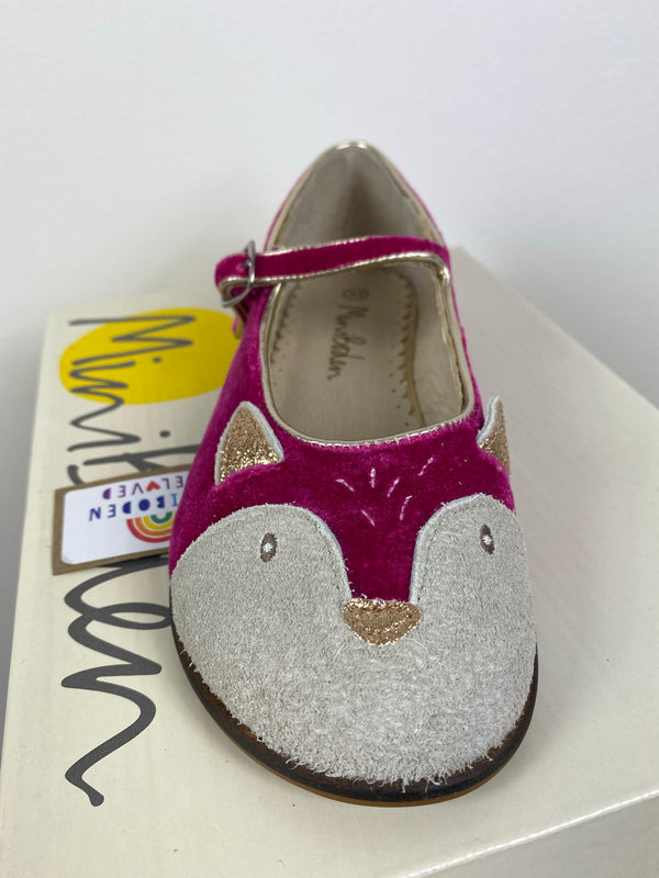 Beautiful Pink Velvet Mouse Party Shoes (Size 33)