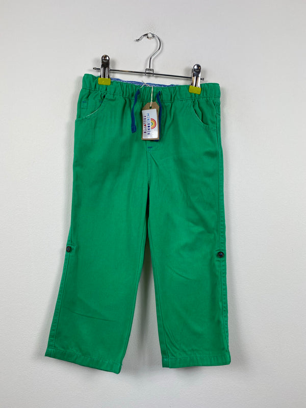 Green Roll Up Summer Trousers (2-3 Years)