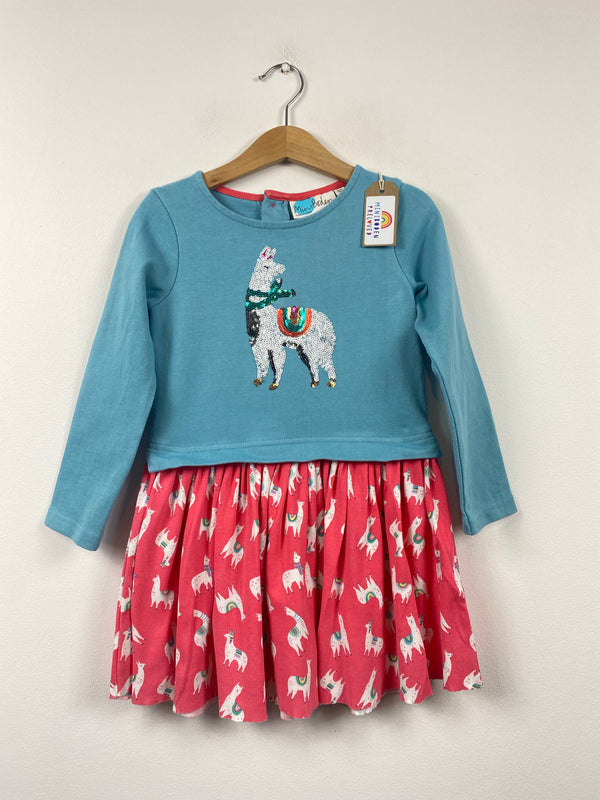 Sequin Llama Design Dress (4-5 Years)
