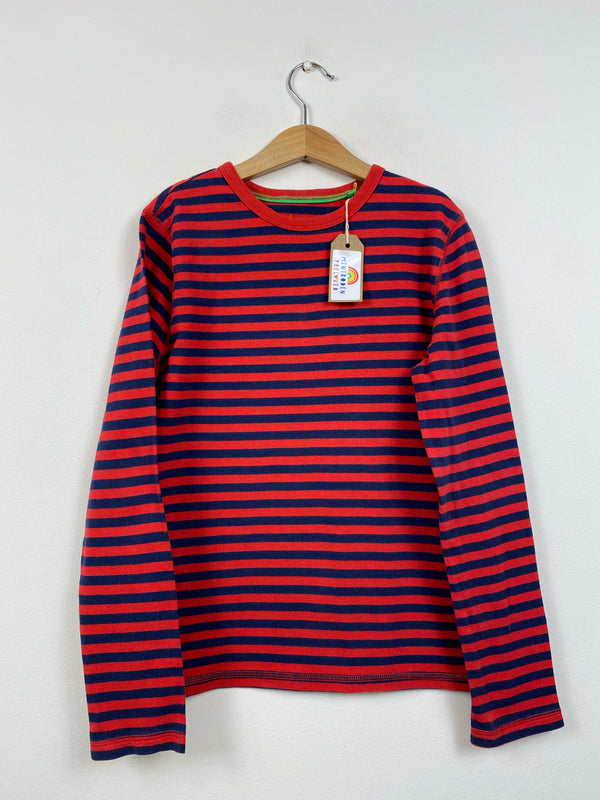 Navy & Red Long Sleeved Top (11-12 Years)
