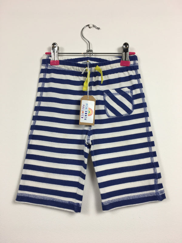 Blue Stripy Long Shorts (Age 18-24 Months)