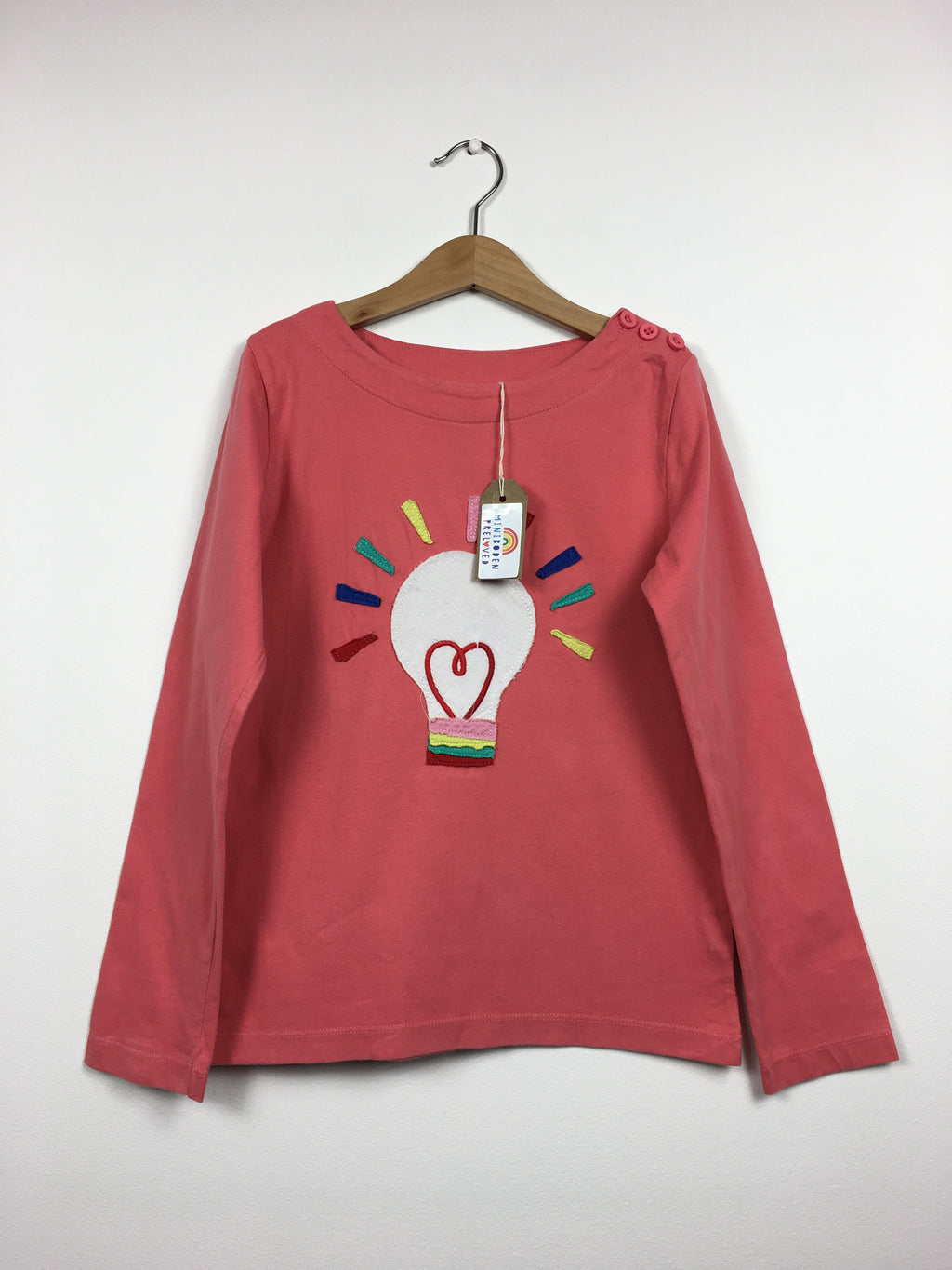 Coral Appliqué Lightbulb Top (9-10 Years)