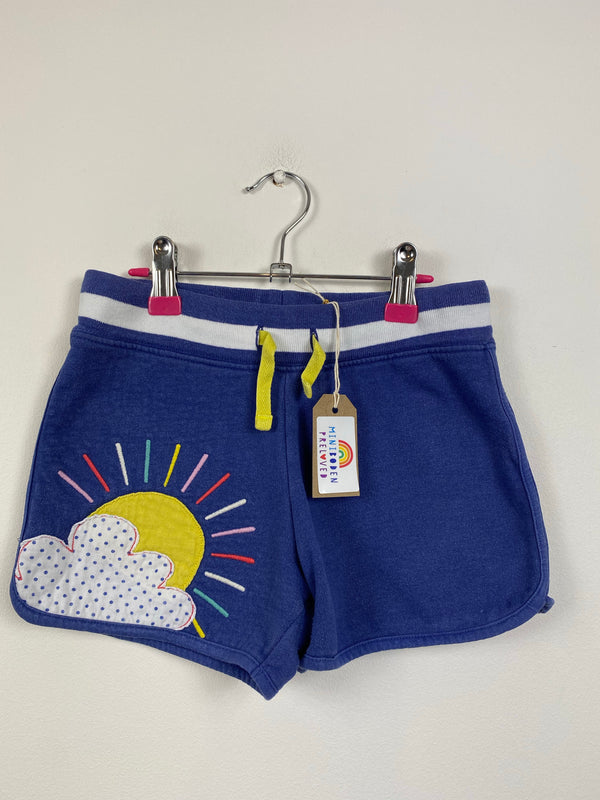 Applique Sun Blue Gym Shorts (8 Years)
