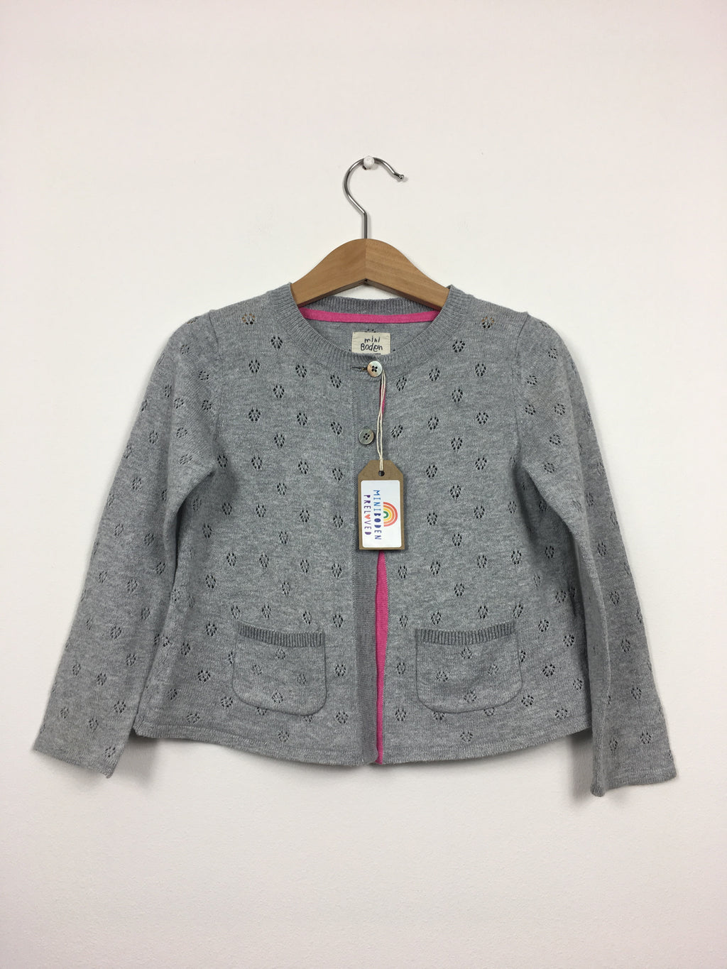 Grey Pointelle Cardigan (2-3 Years)