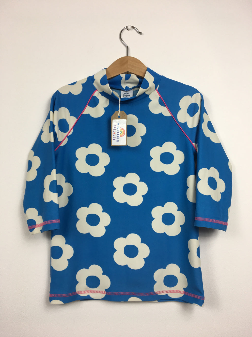 Big Flower Print Rash Vest (6-7 Years)