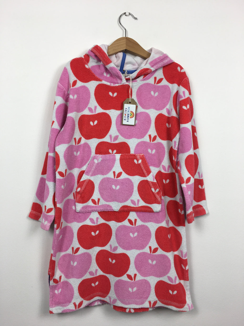 Vibrant Apple Print Towelling Dress (5-6 Years)