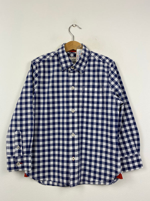 Navy & White Checked Shirt (5-6 Years)