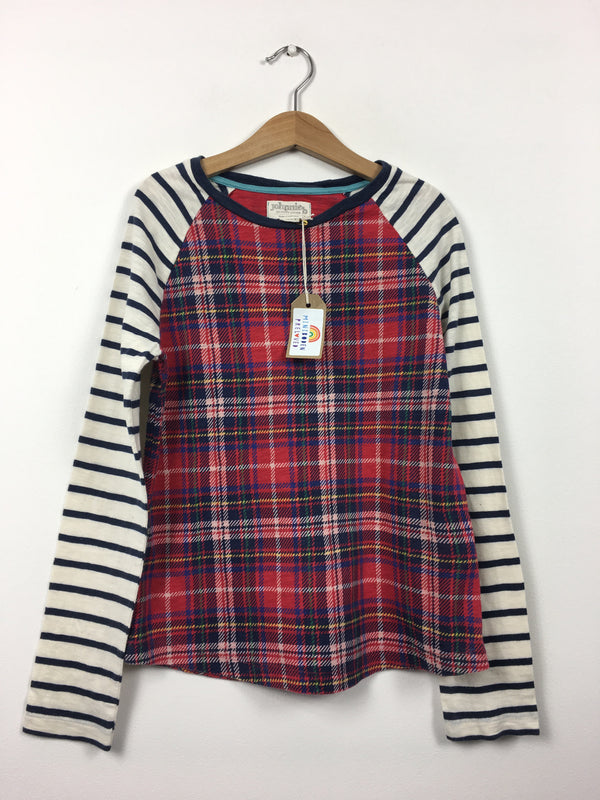 Tartan & Stripes Long Sleeved Top (9-10 Years)