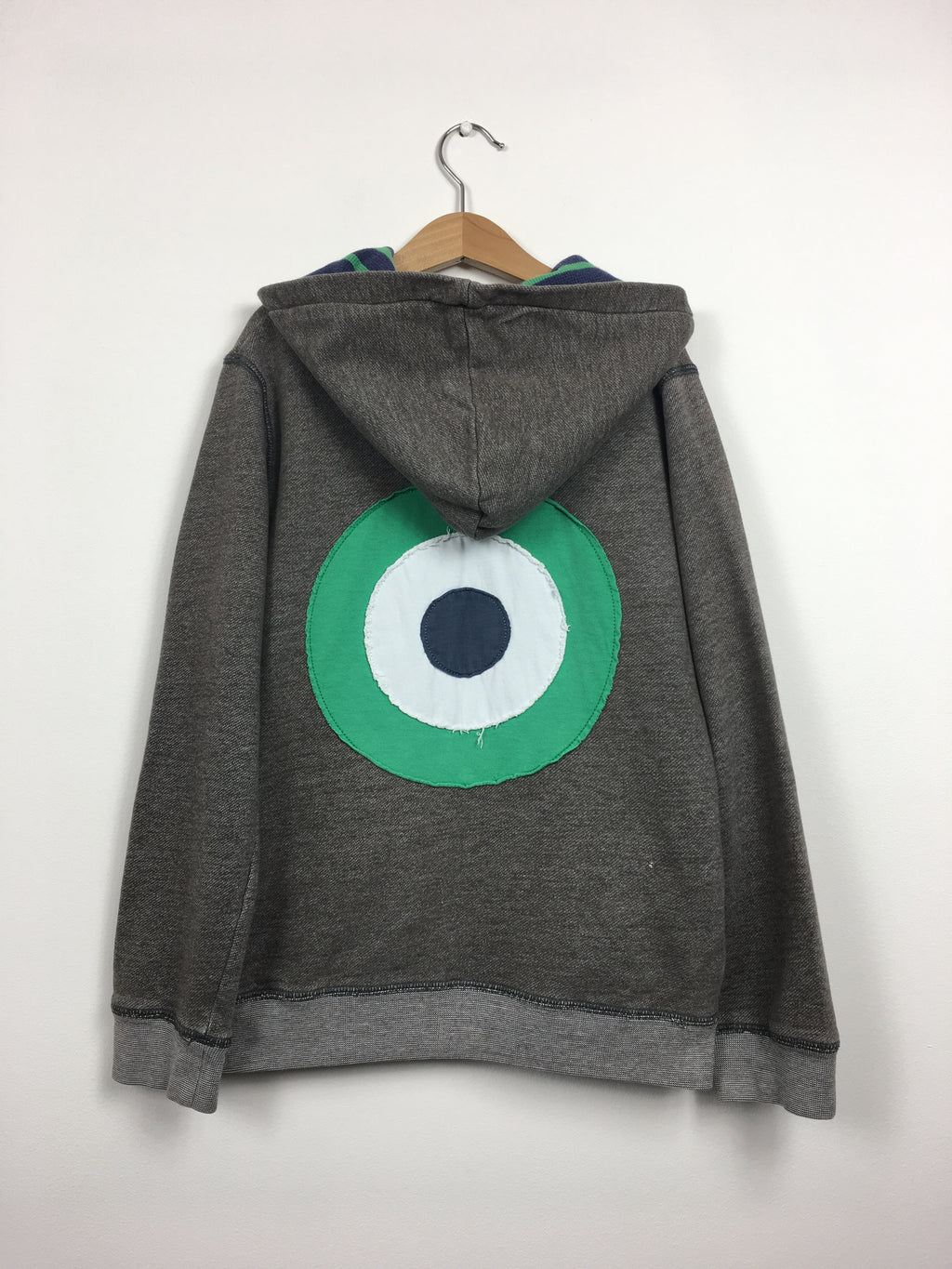 Applique Target Grey Hooded Jumper (9-10 Years)