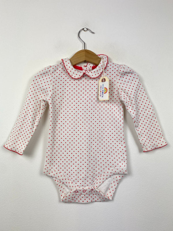 Red Polka Dot Vest (6-12 Months)