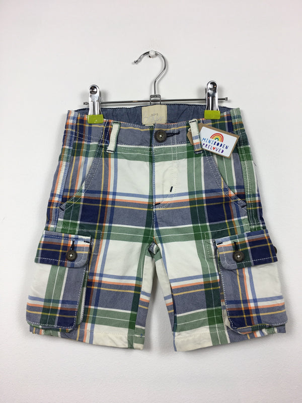 Tartan Cargo Shorts (3 Years)