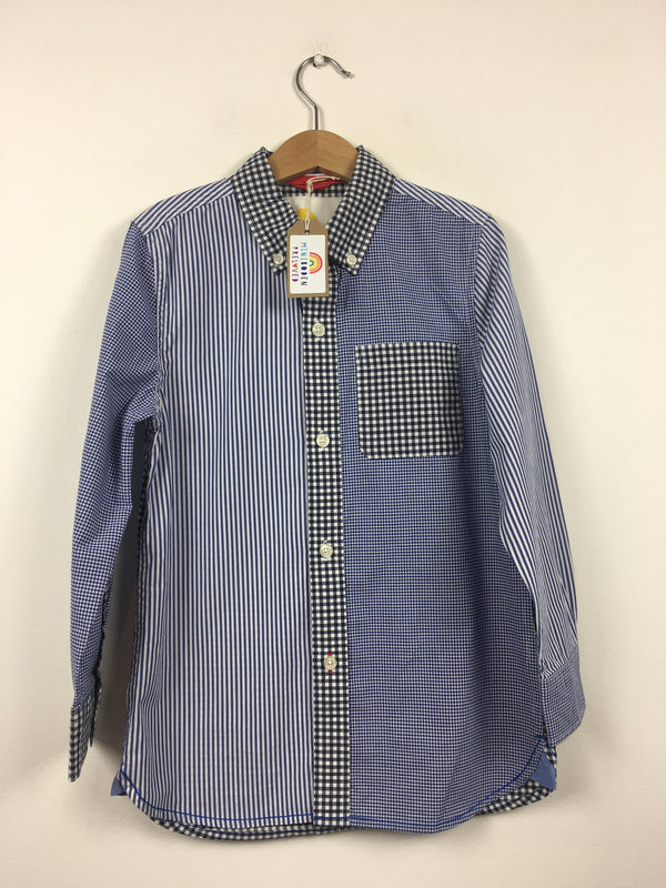 Blue & White Checked Shirt (7-8 Months)