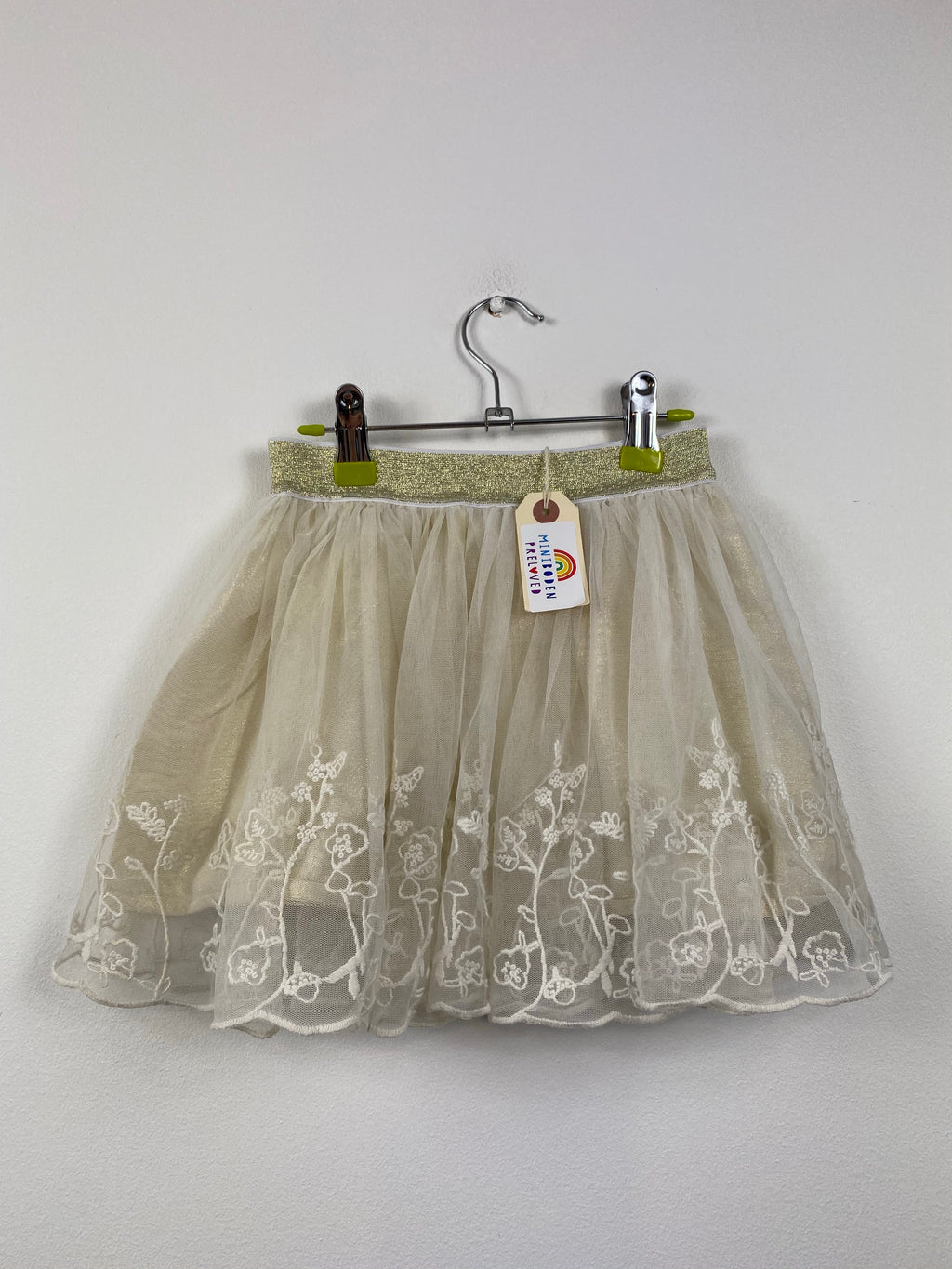 Cream Embroidered Party Skirt (5-6 Years)