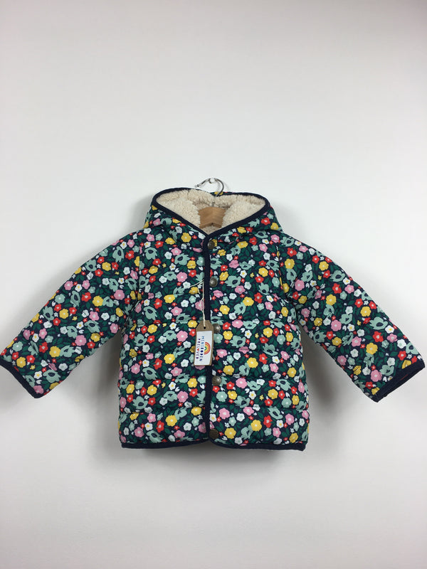 Dark Floral Fleece Lined Jacket (12-18 Months)