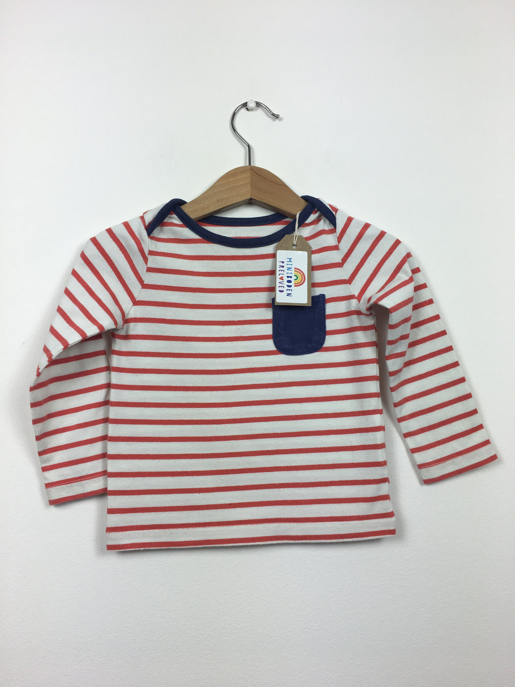 Red & White Stripy Top (12-18 Months)