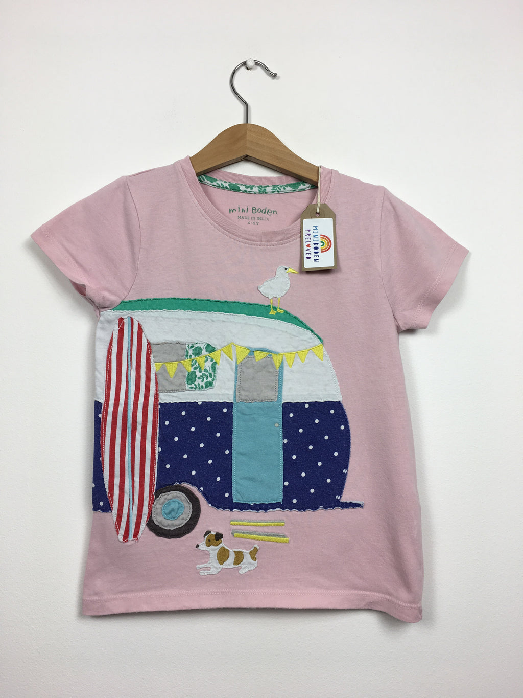 Pink Applique Caravan T-Shirt  (4-5 Years)
