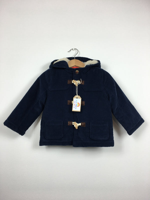 Navy Thick Padded Cord Jacket (18-24 Months)